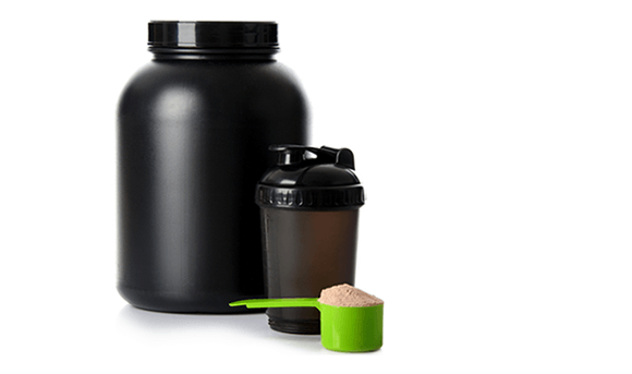 protein powder scoop with canister and to-go container