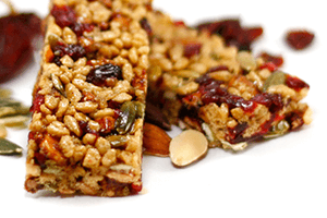 Single layered slab bar with fruit and nuts