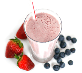 whey protein berry shake with amino acids