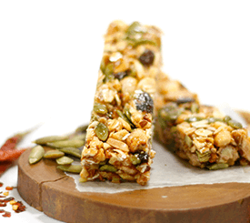 gluten free non-GMO protein bar with fiber