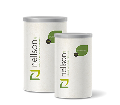 powder scoop storage canister packaging